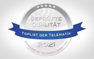 """COUPLINK gelistet als Anbieter der """"TOPLIST der Telematik 2021"""""""